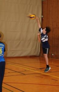 Volleyball Bild Aufschlag